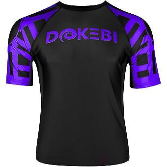Dokebi Ghost Ranked Short Sleeve MMA Rashguard - Purple
