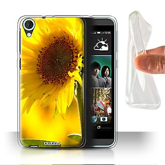 STUFF4 Gel/TPU Case/Cover for HTC Desire 820s Dual/Yellow Flower/Floral Garden Flowers