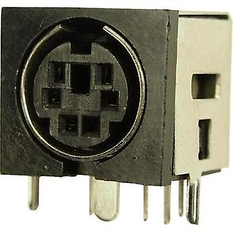 DIN connector Socket, horizontal mount Number of pins: 8 Cliff FC680945 1 pc(s)