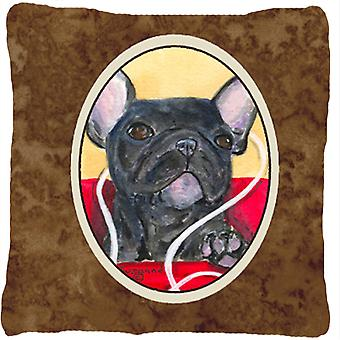French Bulldog Decorative   Canvas Fabric Pillow
