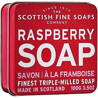 Scottish Fine Soaps Raspberry Soap Tin