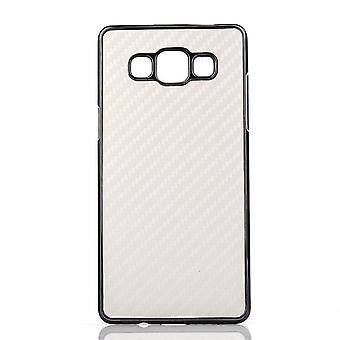 Karbonfiber dekket for Samsung Galaxy A7 (hvit)