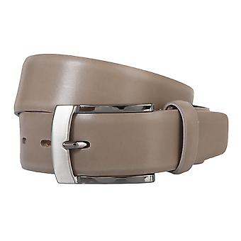 BERND GÖTZ belt leather men's belts leather belt Brown/mud 170