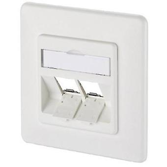 Network outlet Flush mount Insert with main panel and frame Unequipped 2 ports Metz Connect 1309151002-E