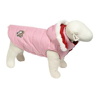 Doggy Things Puffa Jacket Pink Extra Small 30cm