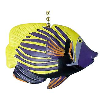 Purple Emparada Tropical Fish Coastal Nursery Ceiling Fan Light Fan Pull