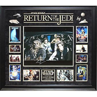 Star Wars Return of the Jedi - Signed Collage Poster Signed in Framed Case