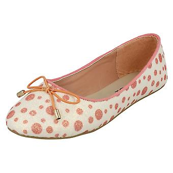 Girls Spot On Spotted Ballerinas H2428