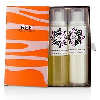 Ren Morococann Rose Duo: Body Wash 200ml / 6.8 oz + bodylotion 200 ml / 6.8 oz - 2st