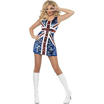 Fever collection all that glitters Rule Britannia costume includes sequined Union Jack clothing