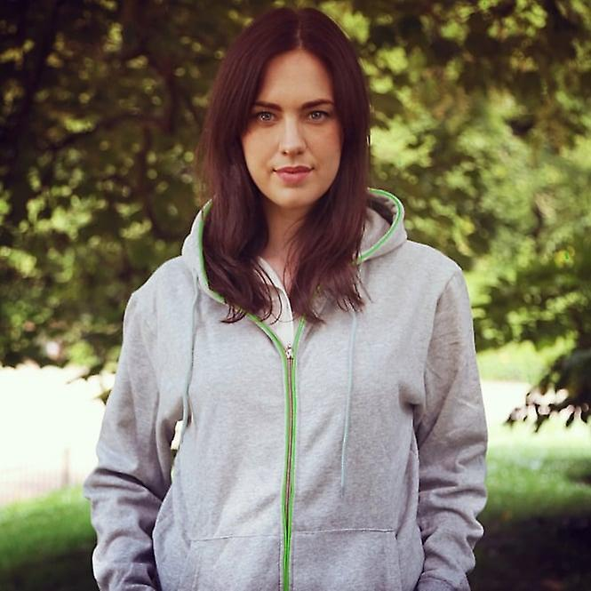 Boutique Camping Light Up Hoodies - Grey With Green Neon