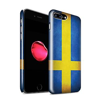 STUFF4 Gloss Hard Back Snap-On Phone Case for Apple iPhone 7 Plus / Sweden/Swedish Design / Flags Collection