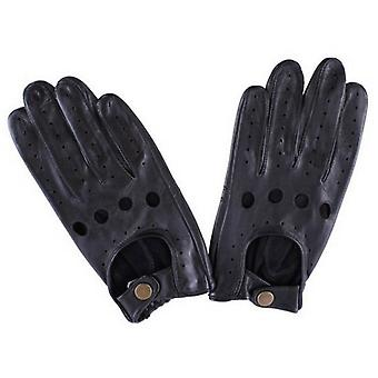 Dents Delta Leather Driving Gloves - Black