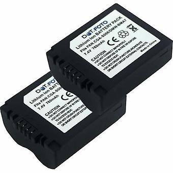 2 x Dot.Foto Panasonic CGR-S006E, reemplazo de la batería DMW-BMA7 - 7.4v / 760mAh