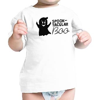 Spook-Tacular Boo Babys Halloween Outfit Cute Baby Tee Shirt White