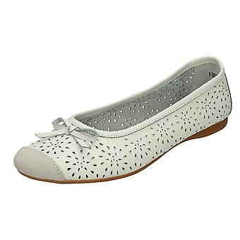 Ladies Spot On Detailed Ballerina Flats