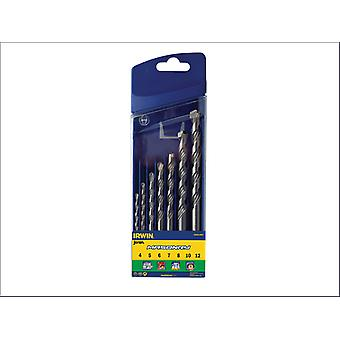 Irwin 10501893 Masonry Drill Bits For Cordless Drills 7 Piece Set