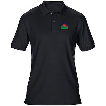 The Royal Welsh Embroidered TRF Logo - Official British Army Mens Polo Shirt
