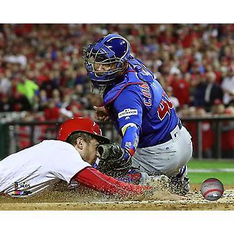 Willson Contreras spel 5 van de 2017 National League Division Series foto afdruk