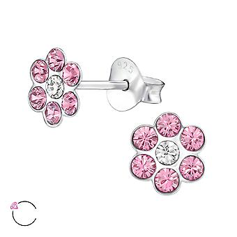 Flower crystal from Swarovski® - 925 Sterling Silver + Crystal Children's Jewellery