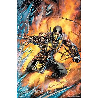 Mortal Kombat - Scorpion Comic Poster Poster Print