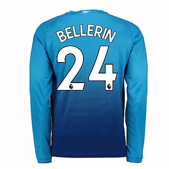 2017-2018 Arsenal Away Long Sleeve Shirt (Bellerin 24)