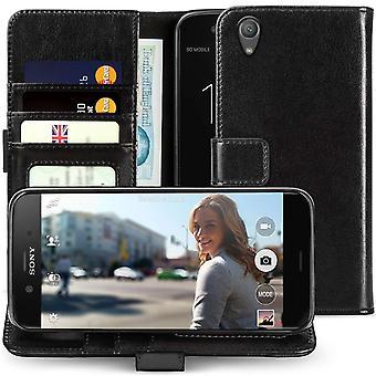 Sony Xperia XA1 Plus ID Leather Wallet - noir