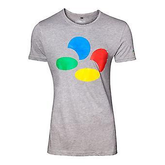 Nintendo Controller knop Mens grijs T-Shirt Medium (TS289010NTN-M)