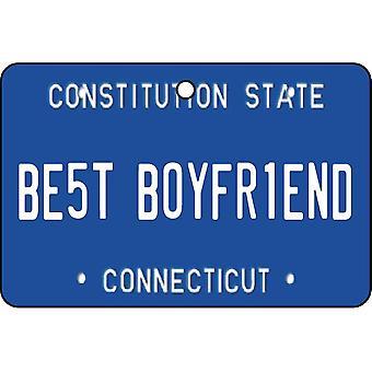 Connecticut - Best Boyfriend License Plate Car Air Freshener