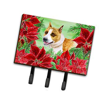 American Staffordshire Poinsettas Leash or Key Holder