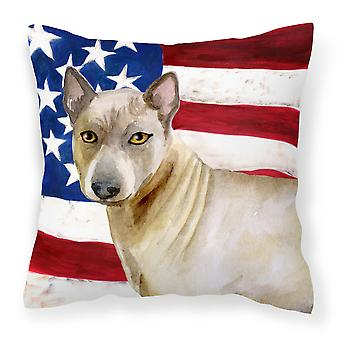Thai Ridgeback Patriotic Fabric Decorative Pillow