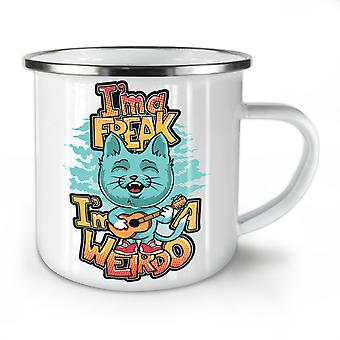 Ima Freak Weirdo Cute NEW WhiteTea Coffee Enamel Mug10 oz | Wellcoda