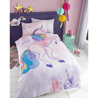 Einhorn Selfie Mädchen Kinder einzelne Decke Quilt Cover Kinder Bettwäsche-Set