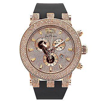 Joe Rodeo diamond men's watch - BROADWAY rose gold 5 ctw