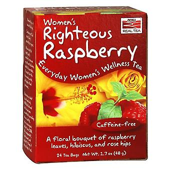 Now Foods Women's Righteous Raspberry Tea 24 Tea Bags (Herbalist's , Infusions)