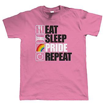 Eten slaap trots Repeat, LGBT Gay Pride Parade T Shirt
