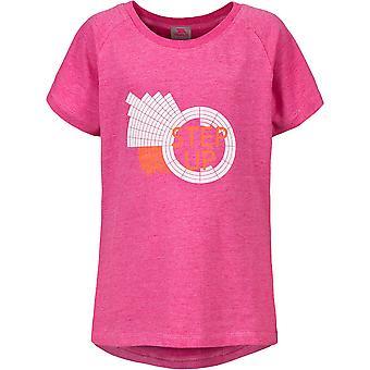 Utro jenter Elva Polyester-bomull rundt halsen trykte t-skjorte