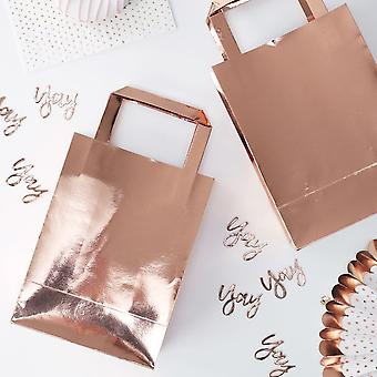 Rose Gold Foiled Shiny Birthday Party Bags x 5 Hen Party Birthday Wedding