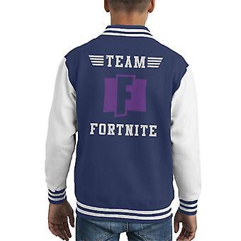 Team Fortnite Kid Varsity Jacket