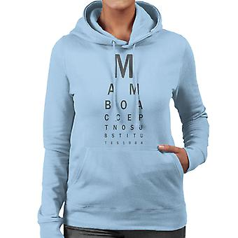 Mambo Eye Test Women's Hooded Sweatshirt