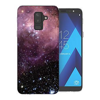 Samsung A6 Plus (2018) Purple and Black Constellation TPU Gel Case