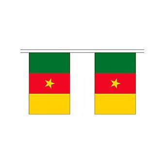 Girlande 6m 20 Flagge Kamerun