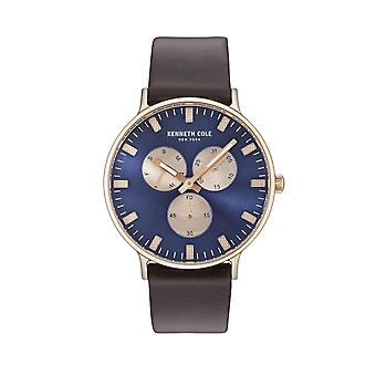 Kenneth Cole New York men's watch wristwatch leather KC14946002
