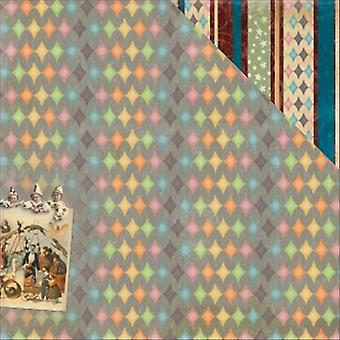 Scrapberry's Vintage Circus Double-Sided Cardstock 12