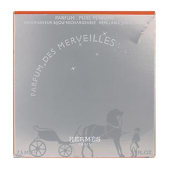 Hermes Parfum Des Merveilles Pure Perfume Splash Refillabel 0.25Oz/7.5ml In Box