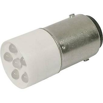 CML LED bulb BA15d Cold white 24 Vdc, 24 V AC 1200 mcd