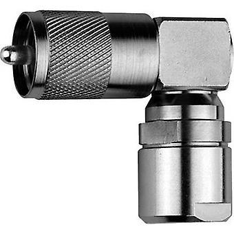 UHF connector Plug, right angle 50 Ω Telegärtner J01040B0002 1 pc(s)