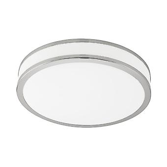 Eglo Palermo 22W Tuneable Colour LED Flush Chrome Ceiling Light