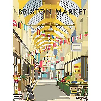Brixton markt (door Dave Thompson) Fridge Magnet