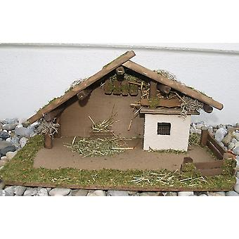 Crib Nativity stable wood crib GIDEON wood hand work for characters up to 10 cm